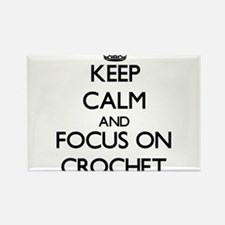 Keep calm and focus on Crochet Magnets
