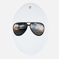 Hawaii Sunglasses Ornament (Oval)