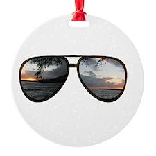 Hawaii Sunglasses Ornament
