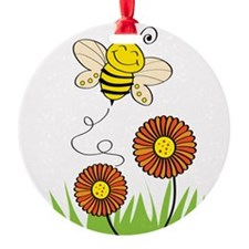 Bee with Flowers Ornament