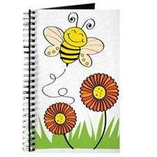 Bee with Flowers Journal