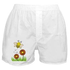 Bee with Flowers Boxer Shorts