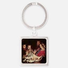 Nativity by Gerard van Honthorst Keychains