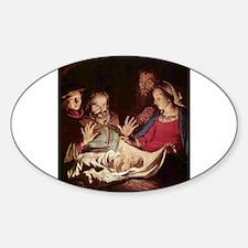 Nativity by Gerard van Honthorst Decal