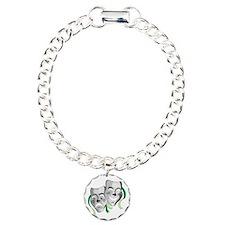 Drama Masks Silver with Bracelet