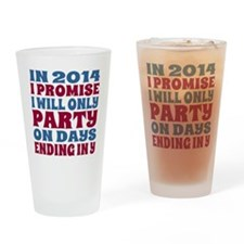 New Years 2014 Party Resolution Drinking Glass