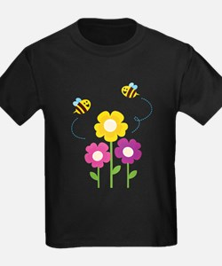 Bees with Flowers T-Shirt