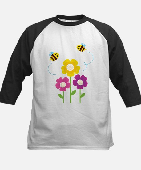 Bees with Flowers Baseball Jersey