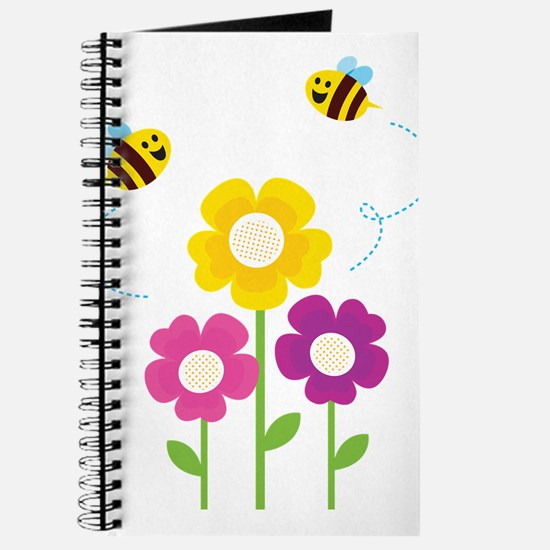 Bees with Flowers Journal
