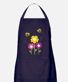 Bees with Flowers Apron (dark)