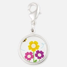 Bees with Flowers Charms