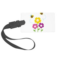 Bees with Flowers Luggage Tag
