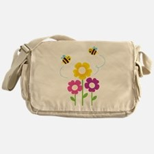 Bees with Flowers Messenger Bag