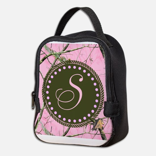 Pink woodland camo Custom Neoprene Lunch Bag