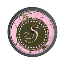 Pink woodland camo Custom Wall Clock