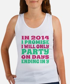 New Years 2014 Party Resolution Women's Tank Top