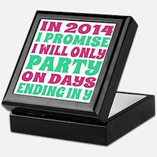 New Years 2014 Party Resolution Keepsake Box