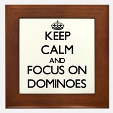 Keep calm and focus on Dominoes Framed Tile