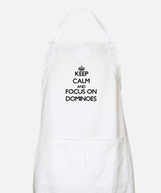 Keep calm and focus on Dominoes Apron
