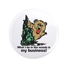 "The Pooping Bear 3.5"" Button"