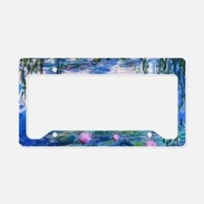 Monet's Water Lilies License Plate Holder