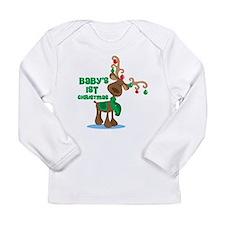 Baby's 1st Christmas reindeer Long Sleeve Infant T