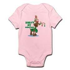 Baby's 1st Christmas reindeer Infant Bodysuit