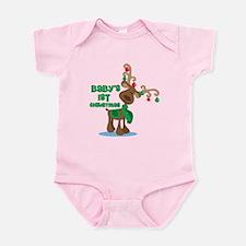 Baby's 1st Christmas reindeer Infant Bodysuit