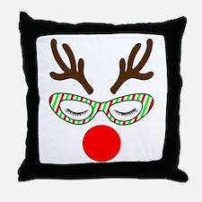 Hipster Reindoe Throw Pillow
