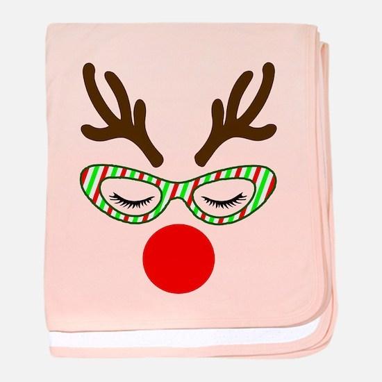 Hipster Reindoe baby blanket
