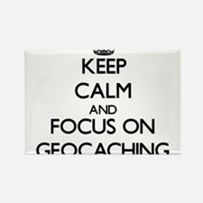 Keep calm and focus on Geocaching Magnets