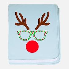 Hipster Reindeer baby blanket