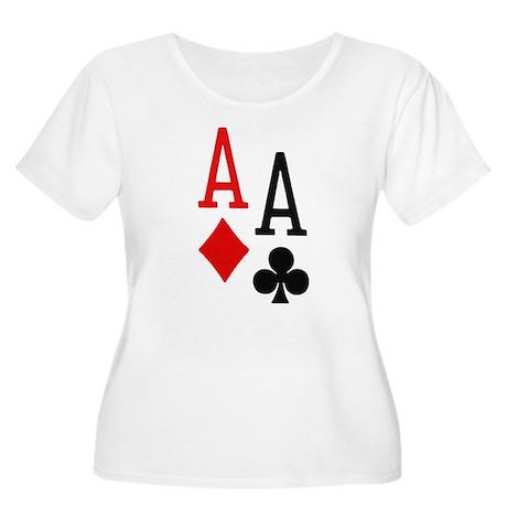 Pocket Aces Poker Women's Plus Size Scoop Neck T-S