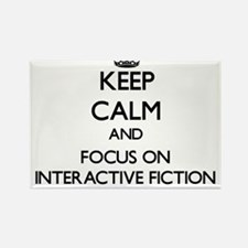 Keep calm and focus on Interactive Fiction Magnets