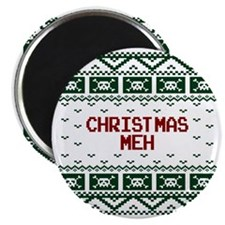 Christmas Meh Funny Ugly Christmas Sweater Magnet