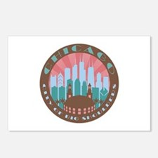 Chicago round chocolate Postcards (Package of 8)