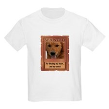 Wanted_For stealing my heart Kids T-Shirt