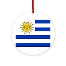 Uruguay Flag Ornament (Round)