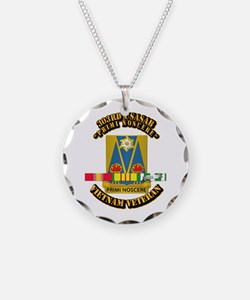 Army - 303rd USASA Bn w SVC Ribbon Necklace