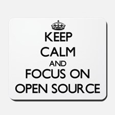 Keep calm and focus on Open Source Mousepad