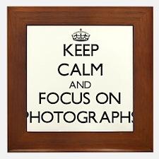 Keep calm and focus on Photographs Framed Tile