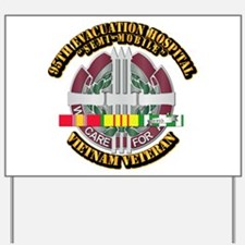 Army - 95th Evac Hospital w SVC Ribbon Yard Sign