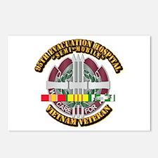 Army - 95th Evac Hospital w SVC Ribbon Postcards (