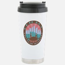 Chicago round chocolate Travel Mug