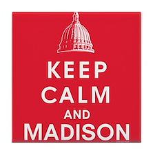 Keep Calm and Madison Tile Coaster
