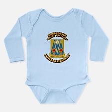 DUI - 303rd USASA Bn w Text Long Sleeve Infant Bod