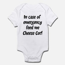 Feed me Cheese Curl Infant Bodysuit