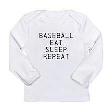 Baseball Eat Sleep Repeat Long Sleeve T-Shirt
