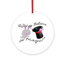 Do You Believe In Magic Top Hat & Rabbit Ornament
