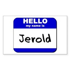 hello my name is jerold Rectangle Decal